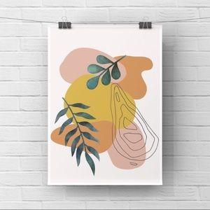 Minimalist modern boho abstract wall art print